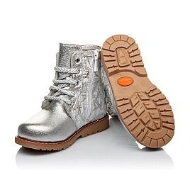 Детские зимние ботинки на меху Woopy Orthopedic серебряные для девочек натуральная кожа размер 25-30 (3896) Фото 2