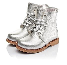 Детские зимние ботинки на меху Woopy Orthopedic серебряные для девочек натуральная кожа размер 25-30 (3896) Фото 3