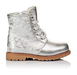 Детские зимние ботинки на меху Woopy Orthopedic серебряные для девочек натуральная кожа размер 25-30 (3896) Фото 4