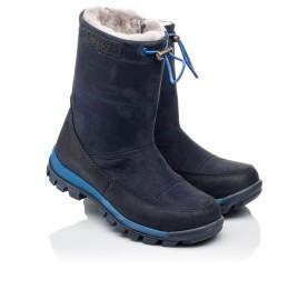 Детские зимние сапожки на меху Woopy Orthopedic синие для девочек натуральный нубук размер - (3897) Фото 1