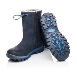 Детские зимние сапожки на меху Woopy Orthopedic синие для девочек натуральный нубук размер - (3897) Фото 2