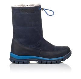 Детские зимние сапожки на меху Woopy Orthopedic синие для девочек натуральный нубук размер - (3897) Фото 4
