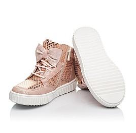 Детские демисезонные ботинки Woopy Orthopedic бежевые для девочек натуральный нубук размер 25-33 (3898) Фото 2