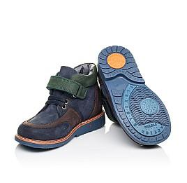 Детские демисезонные ботинки Woopy Orthopedic синие для мальчиков натуральный нубук размер 19-30 (3899) Фото 2