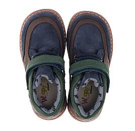 Детские демисезонные ботинки Woopy Orthopedic синие для мальчиков натуральный нубук размер 19-26 (3899) Фото 3