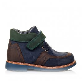 Детские демисезонные ботинки Woopy Orthopedic синие для мальчиков натуральный нубук размер 19-30 (3899) Фото 4