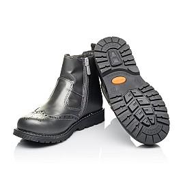 Детские демисезонные ботинки Woopy Orthopedic серые для девочек натуральная кожа размер 30-40 (3900) Фото 2