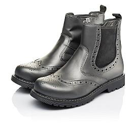 Детские демисезонные ботинки Woopy Orthopedic серые для девочек натуральная кожа размер 30-40 (3900) Фото 3