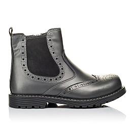 Детские демисезонные ботинки Woopy Orthopedic серые для девочек натуральная кожа размер 30-40 (3900) Фото 4