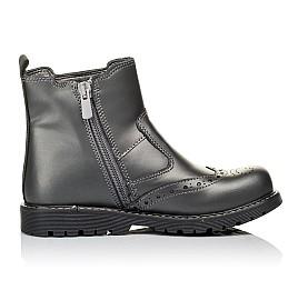 Детские демисезонные ботинки Woopy Orthopedic серые для девочек натуральная кожа размер 30-40 (3900) Фото 5