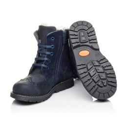 Детские зимние ботинки на меху Woopy Orthopedic синие для мальчиков натуральный нубук размер 26-31 (3902) Фото 2