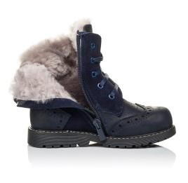 Детские зимние ботинки на меху Woopy Orthopedic синие для мальчиков натуральный нубук размер 26-31 (3902) Фото 5