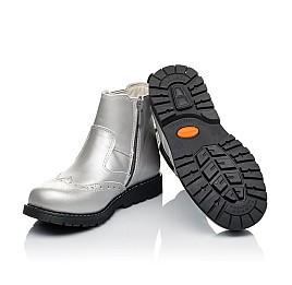 Детские демисезонные ботинки Woopy Orthopedic серебряные для девочек натуральная кожа размер 26-38 (3903) Фото 2