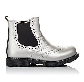 Детские демисезонные ботинки Woopy Orthopedic серебряные для девочек натуральная кожа размер 26-37 (3903) Фото 4