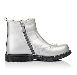 Детские демисезонные ботинки Woopy Orthopedic серебряные для девочек натуральная кожа размер 26-38 (3903) Фото 5