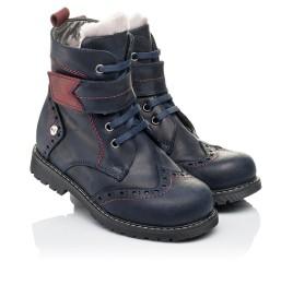 Детские зимние ботинки на меху Woopy Orthopedic синие для мальчиков натуральная кожа размер 26-29 (3904) Фото 1