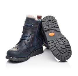 Детские зимние ботинки на меху Woopy Orthopedic синие для мальчиков натуральная кожа размер 26-29 (3904) Фото 2