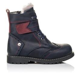 Детские зимние ботинки на меху Woopy Orthopedic синие для мальчиков натуральная кожа размер 26-29 (3904) Фото 4