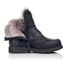 Детские зимние ботинки на меху Woopy Orthopedic синие для мальчиков натуральная кожа размер 26-29 (3904) Фото 5