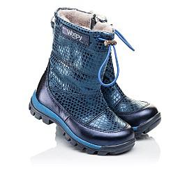 Детские зимние сапожки на меху Woopy Orthopedic синие для девочек натуральная кожа размер 26-32 (3905) Фото 1