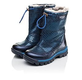 Детские зимние сапожки на меху Woopy Orthopedic синие для девочек натуральная кожа размер 23-36 (3905) Фото 3