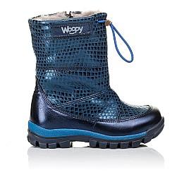 Детские зимние сапожки на меху Woopy Orthopedic синие для девочек натуральная кожа размер 26-32 (3905) Фото 4