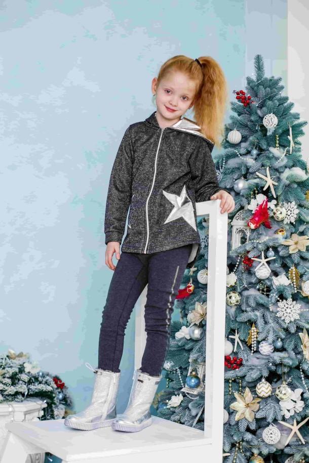 Девочка обута в детские зимние сапожки на меху Woopy Orthopedic серебряные (3906) Фото 1