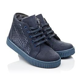 Детские демисезонные ботинки Woopy Orthopedic синие для девочек натуральный нубук размер 30-39 (3908) Фото 1