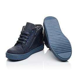 Детские демисезонные ботинки Woopy Orthopedic синие для девочек натуральный нубук размер 30-39 (3908) Фото 2