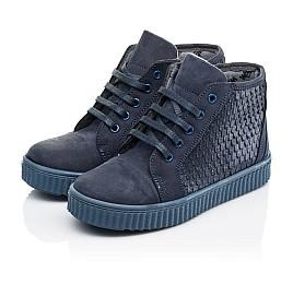 Детские демисезонные ботинки Woopy Orthopedic синие для девочек натуральный нубук размер 30-39 (3908) Фото 3