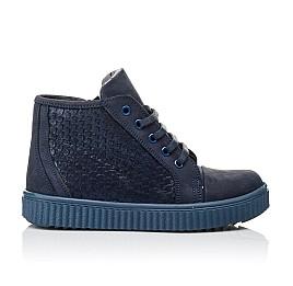 Детские демисезонные ботинки Woopy Orthopedic синие для девочек натуральный нубук размер 30-39 (3908) Фото 4