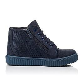 Детские демисезонные ботинки Woopy Orthopedic синие для девочек натуральный нубук размер 30-39 (3908) Фото 5