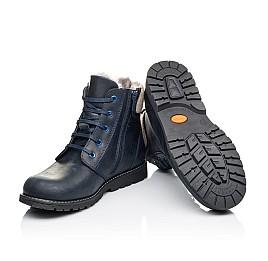 Детские зимние ботинки на меху Woopy Orthopedic синие для мальчиков  натуральная кожа размер - (3909) Фото 2