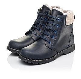 Детские зимние ботинки на меху Woopy Orthopedic синие для мальчиков  натуральная кожа размер - (3909) Фото 3