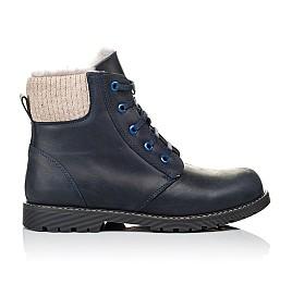 Детские зимние ботинки на меху Woopy Orthopedic синие для мальчиков  натуральная кожа размер - (3909) Фото 4