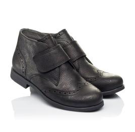 Детские демисезонные ботинки Woopy Orthopedic черные для мальчиков  натуральная кожа размер 34-40 (3910) Фото 1