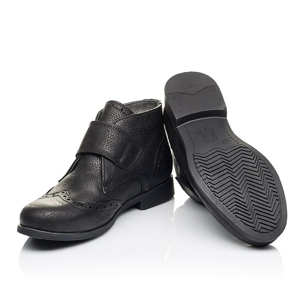 Детские демисезонные ботинки Woopy Orthopedic черные для мальчиков натуральная кожа размер 34-40 (3910) Фото 2