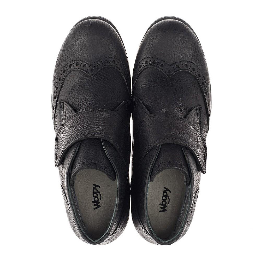 Детские демисезонные ботинки Woopy Orthopedic черные для мальчиков натуральная кожа размер 34-40 (3910) Фото 5
