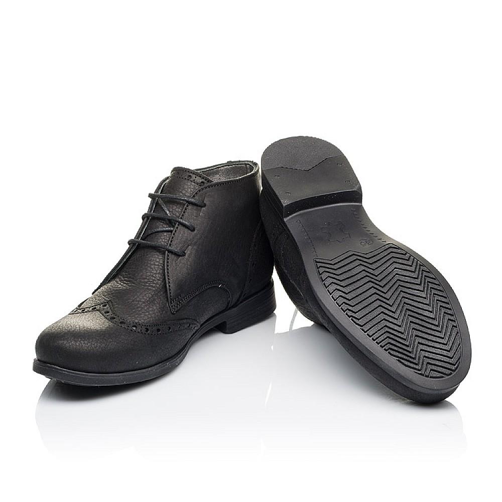 Детские демисезонные ботинки Woopy Orthopedic черные для мальчиков натуральная кожа размер 35-40 (3911) Фото 2