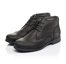 Детские демисезонные ботинки Woopy Orthopedic черные для мальчиков  натуральная кожа размер 35-40 (3911) Фото 3