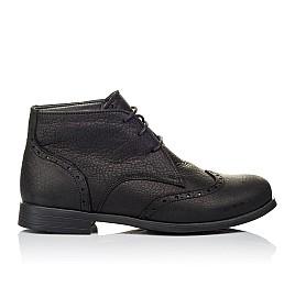 Детские демисезонные ботинки Woopy Orthopedic черные для мальчиков  натуральная кожа размер 35-40 (3911) Фото 4