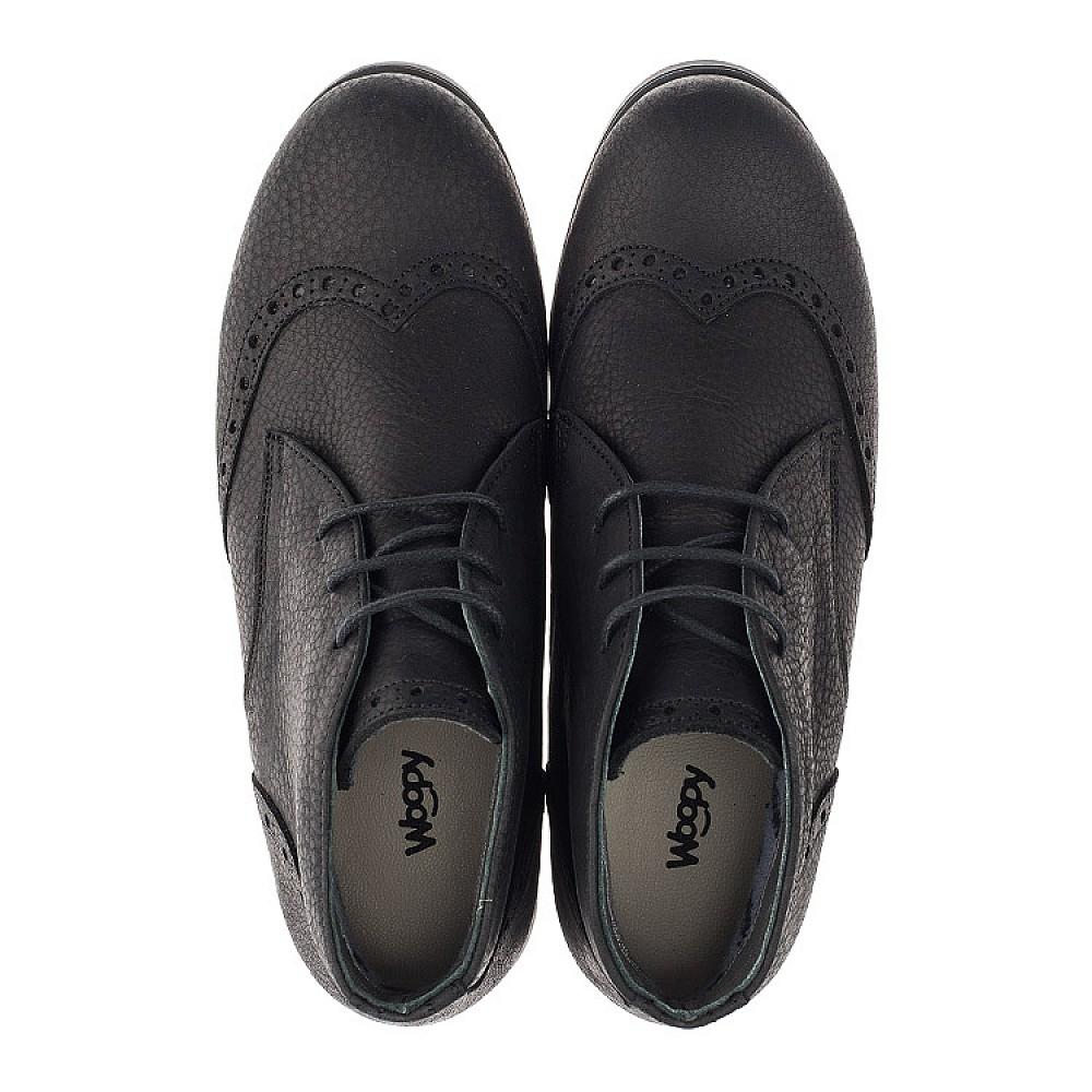 Детские демисезонные ботинки Woopy Orthopedic черные для мальчиков натуральная кожа размер 35-40 (3911) Фото 5