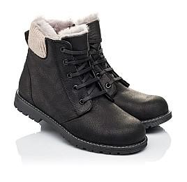 Детские зимние ботинки на меху Woopy Orthopedic черные для мальчиков натуральная кожа размер - (3912) Фото 1