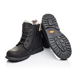 Детские зимние ботинки на меху Woopy Orthopedic черные для мальчиков натуральная кожа размер - (3912) Фото 2