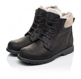 Детские зимние ботинки на меху Woopy Orthopedic черные для мальчиков натуральная кожа размер - (3912) Фото 3