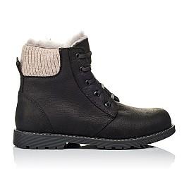 Детские зимние ботинки на меху Woopy Orthopedic черные для мальчиков натуральная кожа размер - (3912) Фото 4
