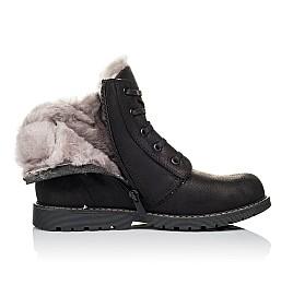 Детские зимние ботинки на меху Woopy Orthopedic черные для мальчиков натуральная кожа размер - (3912) Фото 5