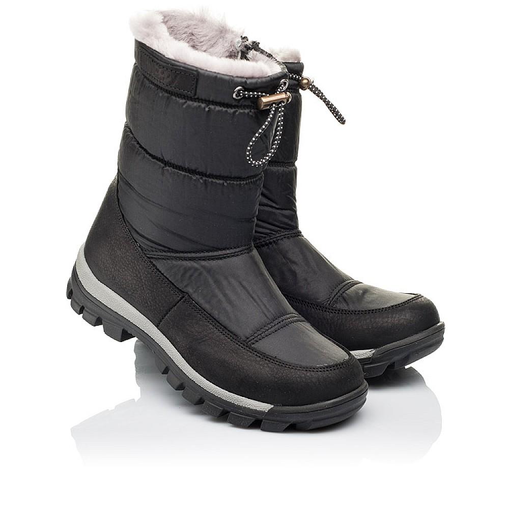 Детские зимние сапожки на меху Woopy Orthopedic черные для мальчиков искусственный материал и натуральная кожа размер 31-36 (3913) Фото 1
