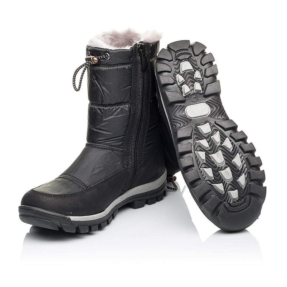 Детские зимние сапожки на меху Woopy Orthopedic черные для мальчиков искусственный материал и натуральная кожа размер 31-36 (3913) Фото 2