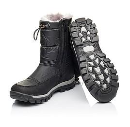Детские зимние сапожки на меху Woopy Orthopedic черные для мальчиков искусственный материал и натуральная кожа размер - (3913) Фото 2